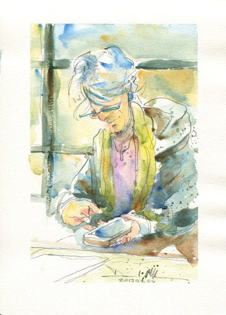 Watercolour by David Meldrum, 20130224