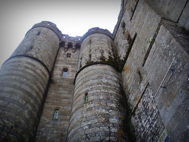 stone walls of the Abbey Mont St Michel France