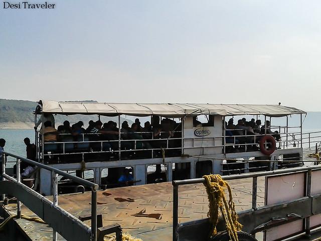 The Boat station at Nagarjunakonda in Nagarjuna Sagar