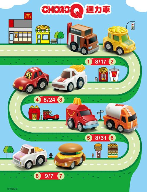 麥當勞 《快樂兒童餐》 八款「CHORO-Q迴力車」快來收集啊!!   玩具人Toy People News