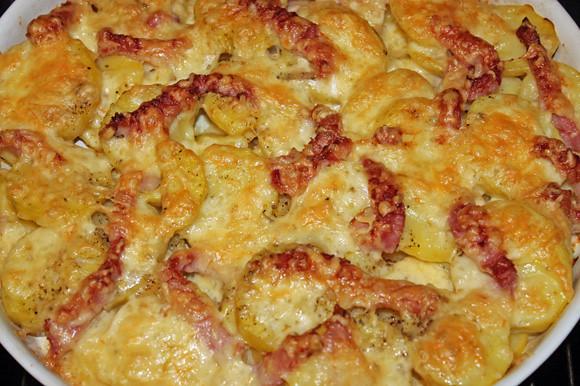 Raclette-Kartoffeln mit Schinkenspeck