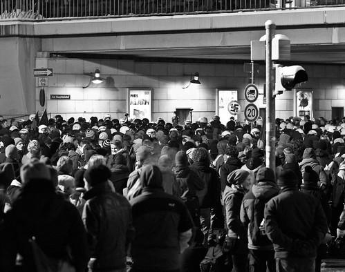 13 februar 2013 Blockade Bayrische Straße