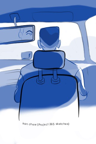 """Taxi Master"" (#65: Project 365 Sketches)"