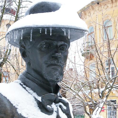 statue of Ivan Trush. Lviv, Ukraine