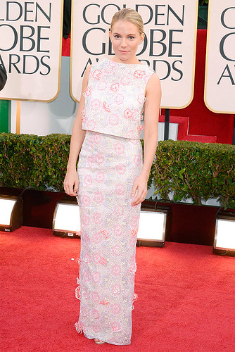 Sienna Miller at the 2013 Golden Globes Red Carpet