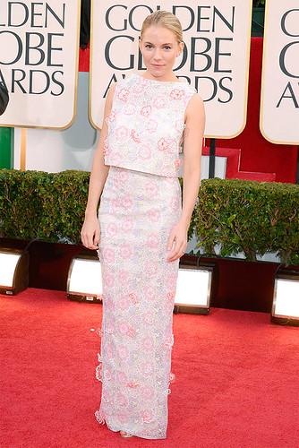Sienna Miller at the 2013 Golden Globes Red Carpet