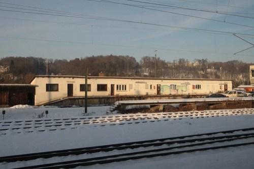 Abandoned railway goods yard at Passau station