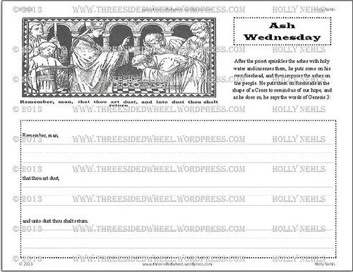 Ash Wednesday :: Copywork (FREE Printable)