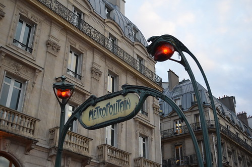 Art Nouveau Metro sign