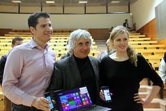 David Cohen et Julie Knibbe, Microsoft et Serge Miranda, MBDS