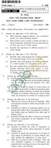 UPTU B.Tech Question Papers - T-802 - Man Made Fibre Yarn Technology