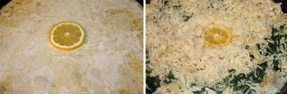 Kokos-Zitronen-Reis mit Spinat und Lachs