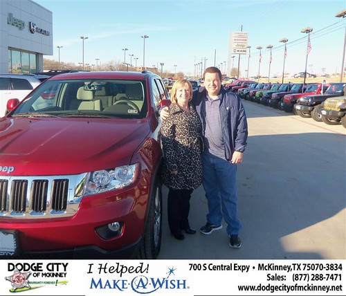 Congratulations to Terry Bevins on the 2013 Jeep Grand Cherokee by Dodge City McKinney Texas
