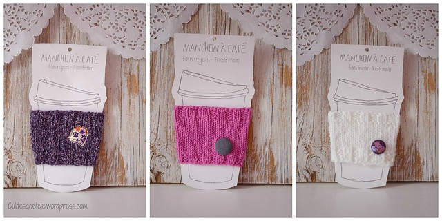 eco knitted coffee sleeves