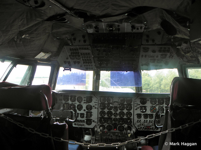 Inside a cockpit at Donington AeroPark