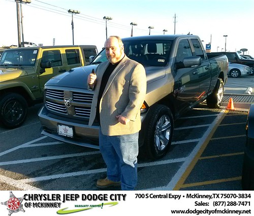 Congratulations to Robert Norris Jr on the 2013 Dodge Ram by Dodge City McKinney Texas