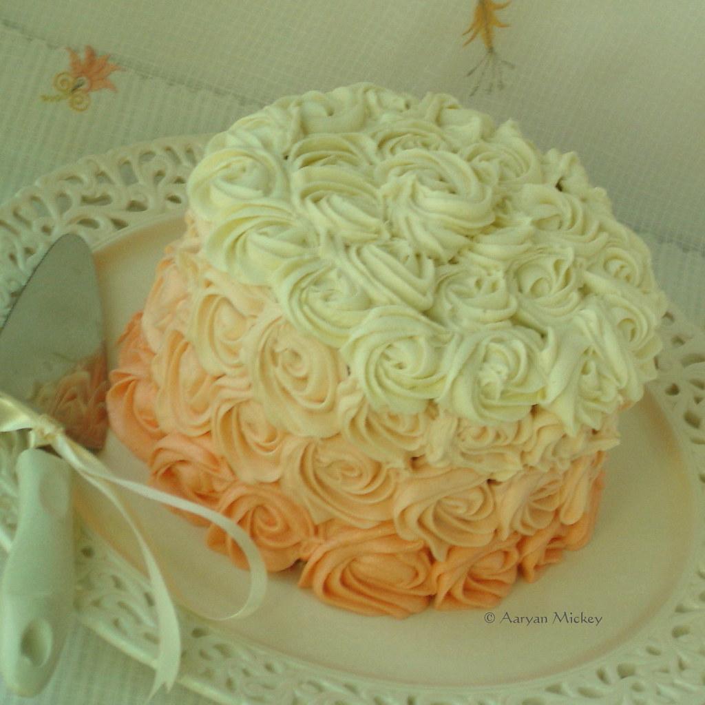 Swapna S Cuisine Ombre Rose Cake Recipe