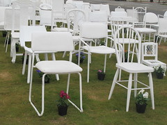 185 white chairs