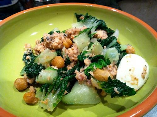 Salmon Bok Choi Salad