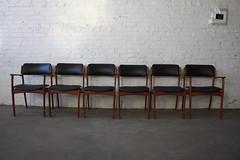 Memorable Erik Buck Danish Mid Century Modern Teak Dining Chairs (O.D. Mobler, Denmark, 1960's)