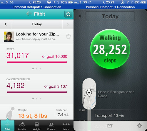 Fitbit and Moves for iOS comparison