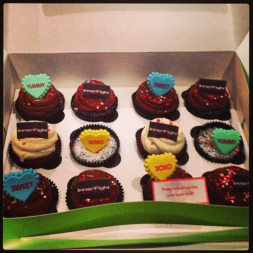 What a #valentine treat from @lovesweetstuff #cupcakes #treat #love #awesome #thanks