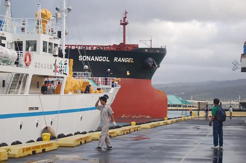 Hokuho Maru arriving Sonangol Rangel leaving
