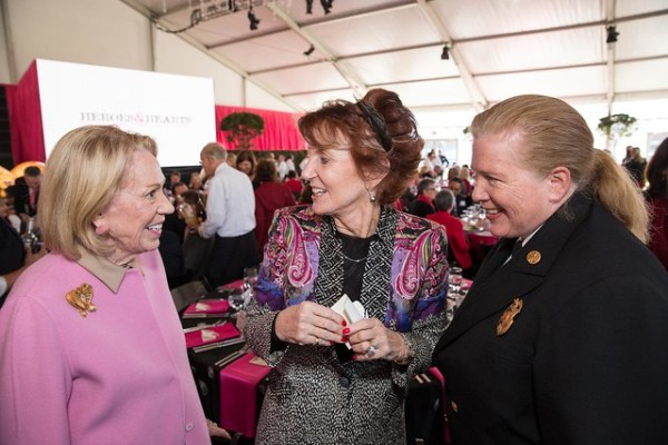 Charlotte Shultz, Judy Guggenhime, Fire Chief Joanne Hayes-White