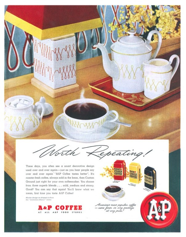 A and P Coffee - published in The Saturday Evening Post - March 27, 1948