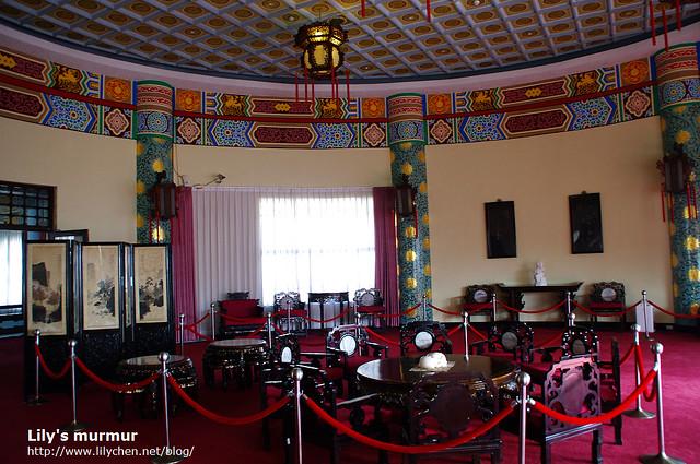 圓廳被設定為會議室或者會客室,這裡中山樓也是視野最好的地方。