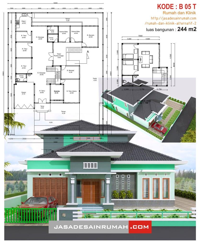 Rumah dan klinik alternatif 2  Jasa Desain Rumah