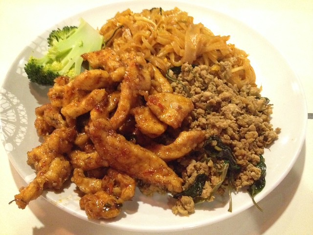 Sweet basil chicken and minced basil chicken - Coriander Gourmet Thai
