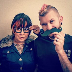 17/365 of our #365days project. We had a #hipster moment today so we rolled with it. #mustache #moustache