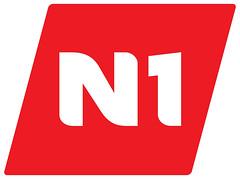 N1 logo með hvítum ramma