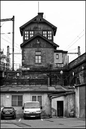 Prag / Bahnhofsgebäude / railway building