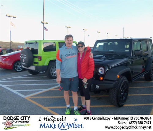 Congratulations to Paula Prusinowski on the 2013 Jeep Wrangler by Dodge City McKinney Texas