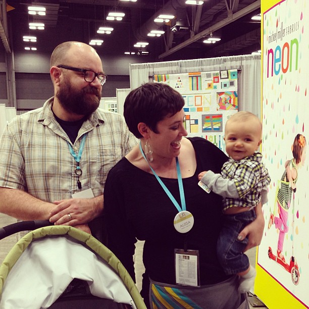 Family visit! #quiltcon