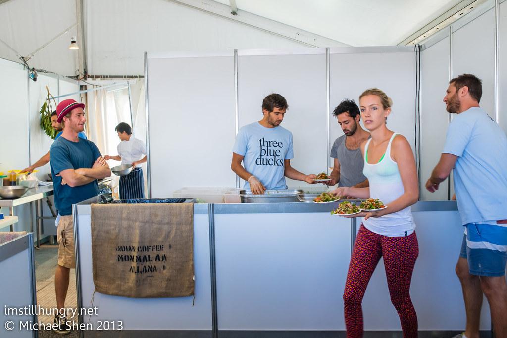 Taste of Sydney - Three Blue Ducks stall