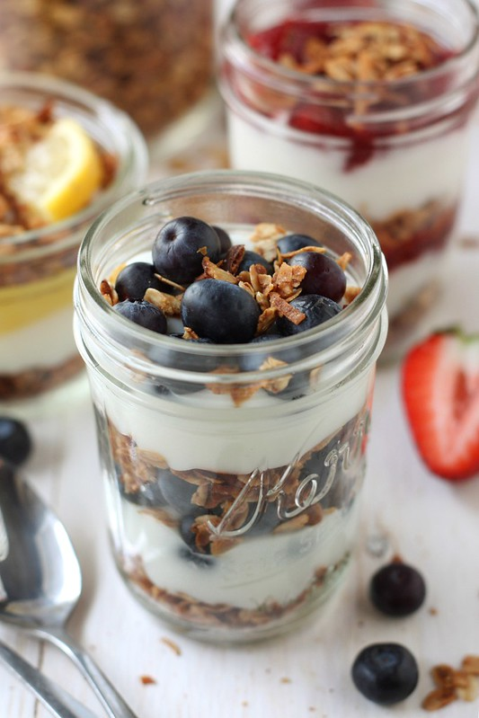 Image result for plain yoghurt and granola