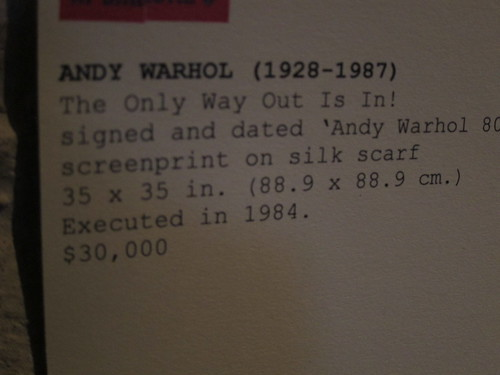 2013 March - Andy Warhol at Christy's in Minneapolis
