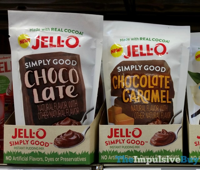 Jello Simply Good Chocolate and Chocolate Caramel Instant Pudding Mixes