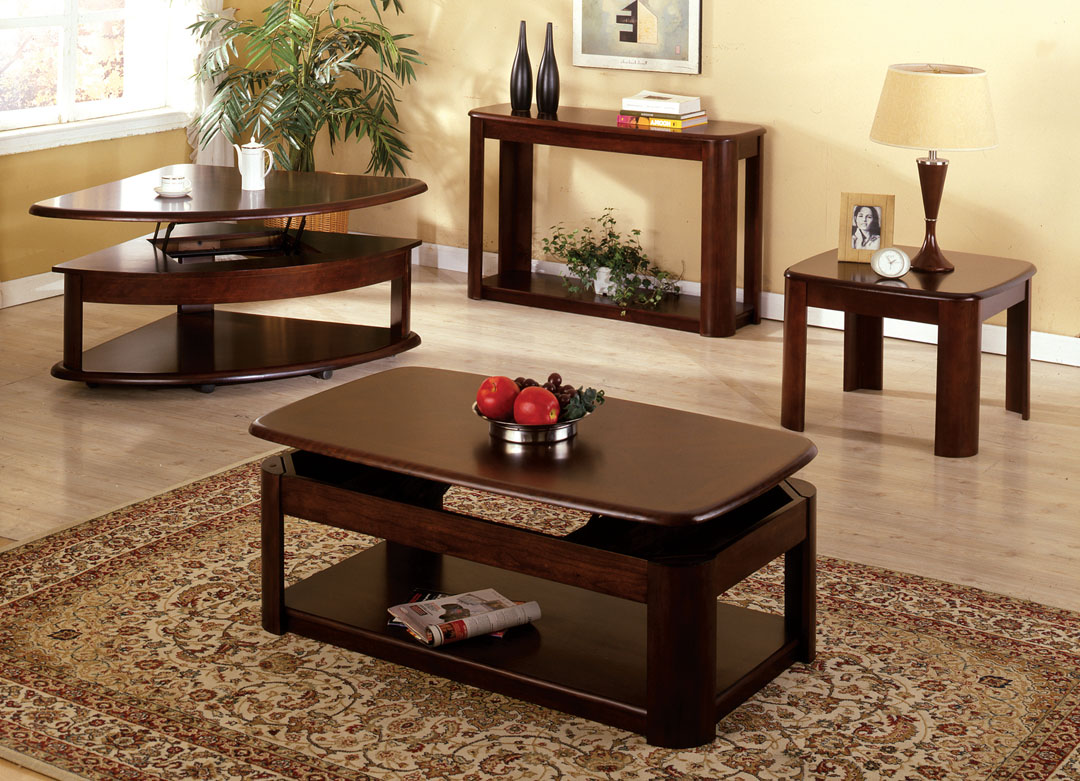 North Bay Lift Top Coffee / End / Sofa Table Dk. Cherry