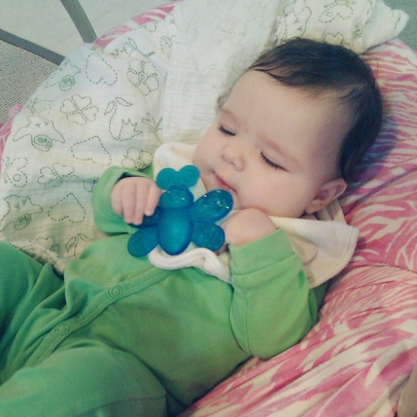 I'm teething and I'm not happy about it.