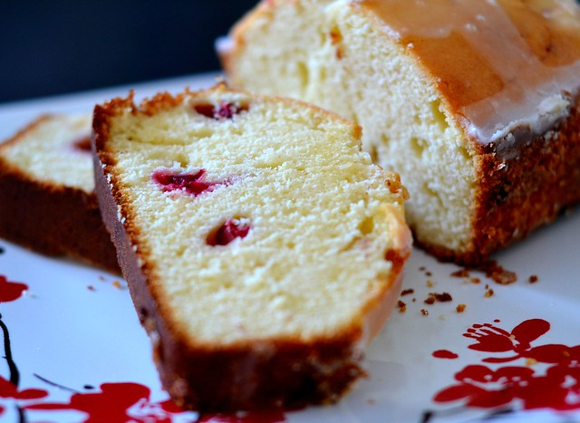 cranberry lemon pound cake - GB