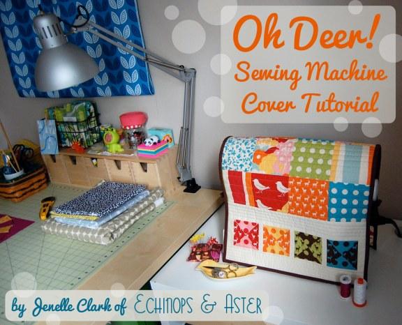 Oh Deer! Sewing Machine Cover Tutorial