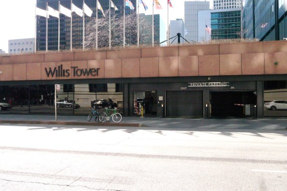 Bike valet at Willis Tower