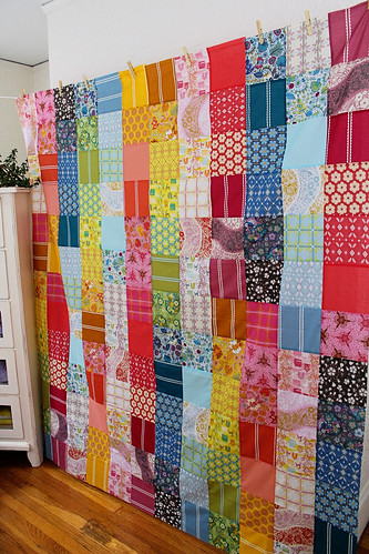 Finished voile quilt top