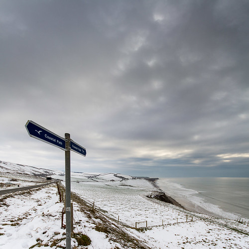 Isle of Wight Coastal Path in the snow