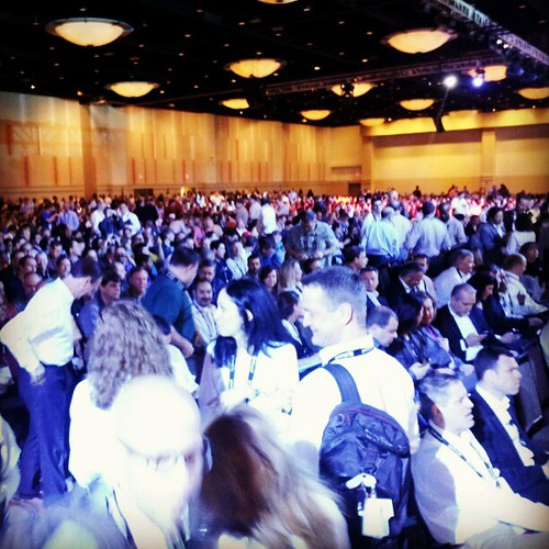 General Session of Monday of SolidWorks World 2013 filling up. #sww13