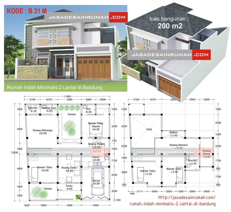 Rumah Minimalis Lantai 2 Nuansa Ungu  contoh rumah minimalis bandung rumah minimalisbl0g